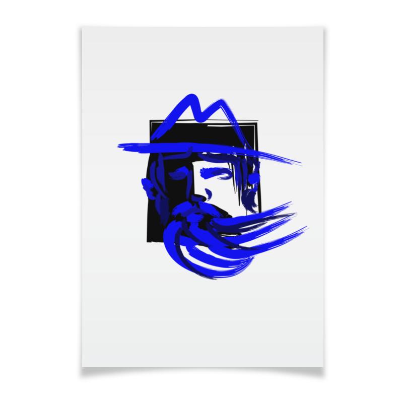 Printio Blue beard, синяя борода цена и фото