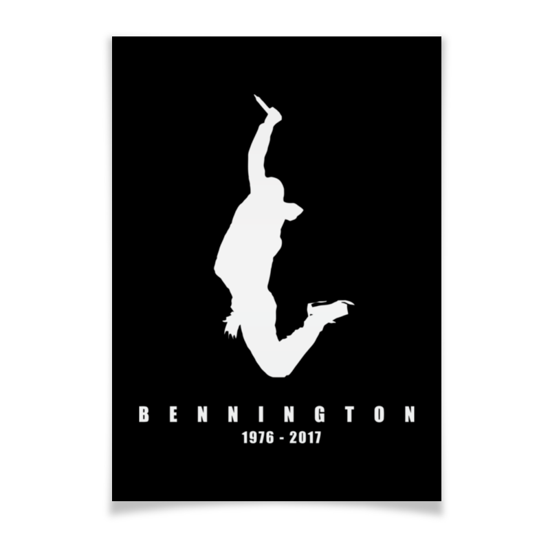 Плакат A3(29.7x42) Printio Chester bennington цена