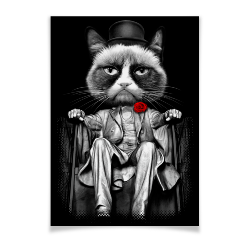 Плакат A3(29.7x42) Printio Мафия зубастая мафия