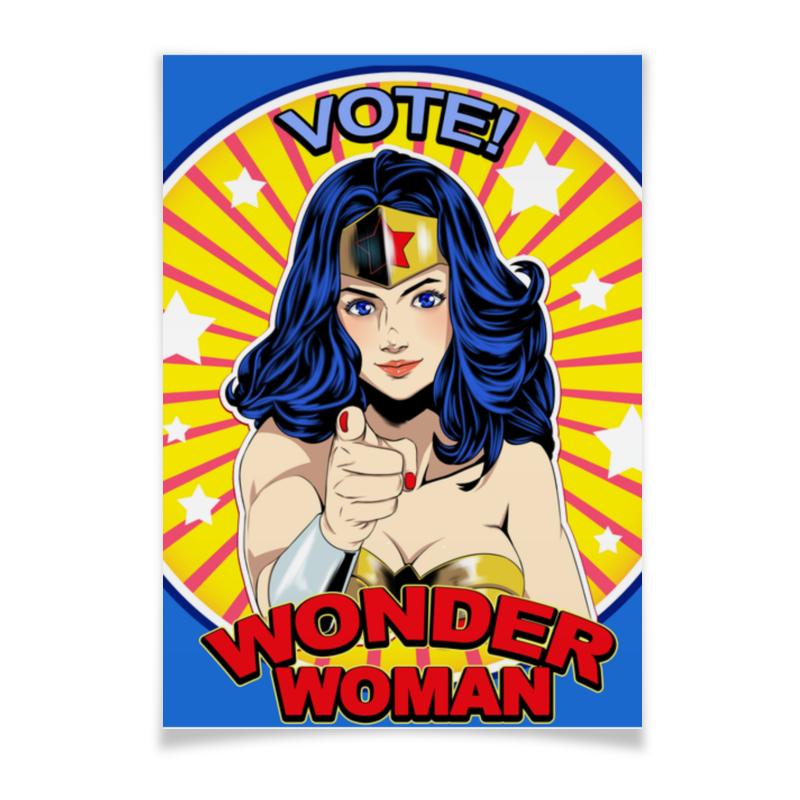 Плакат A3(29.7x42) Printio Wonder woman плакат a3 29 7x42 printio пикачу