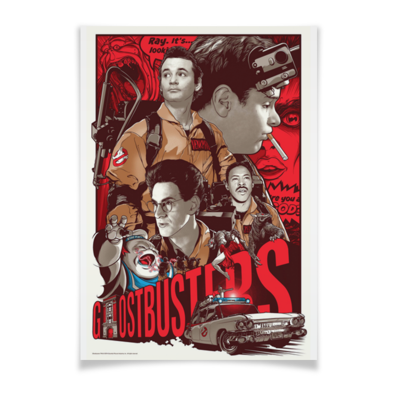 Плакат A3(29.7x42) Printio Ghost busters чехол для ноутбука 14 printio tom clancys ghost recon wildlands