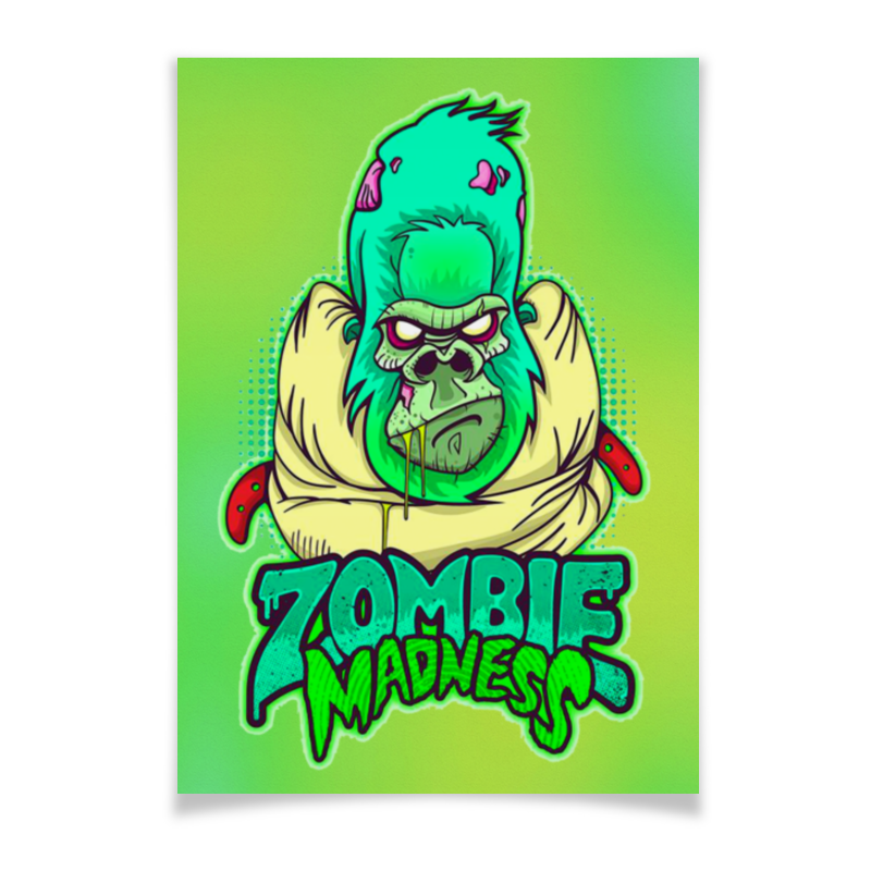 Плакат A3(29.7x42) Printio Zombie madness summer madness
