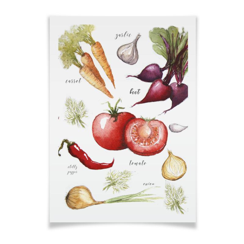 Плакат A3(29.7x42) Printio Свежие овощи плакат овощи