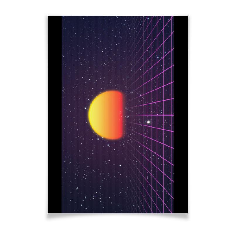 Плакат A3(29.7x42) Printio Ретровейв машинки s s космо