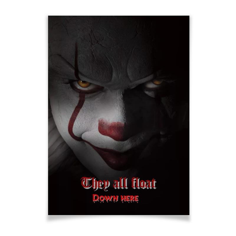 Плакат A3(29.7x42) Printio Клоун пеннивайз клоун джимми