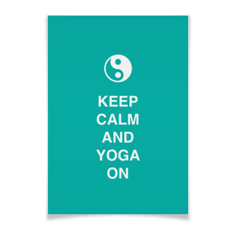 Плакат A3(29.7x42) Printio Keep calm and yoga on тетрадь на пружине printio keep calm and yoga on