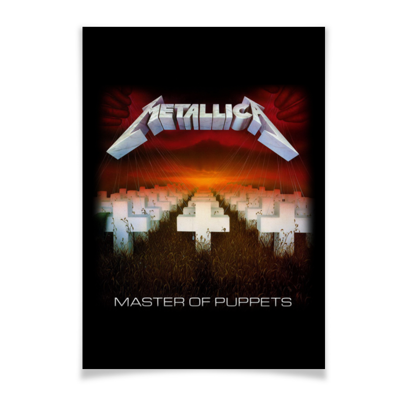 Плакат A3(29.7x42) Printio Metallica плакат a2 42x59 printio драко малфой