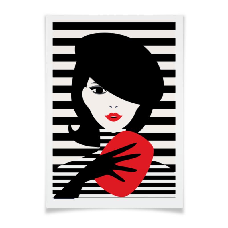 Плакат A3(29.7x42) Printio Француженка, фэшн иллюстрация