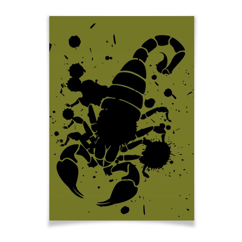Плакат A3(29.7x42) Printio Скорпион (24.10-21.11)
