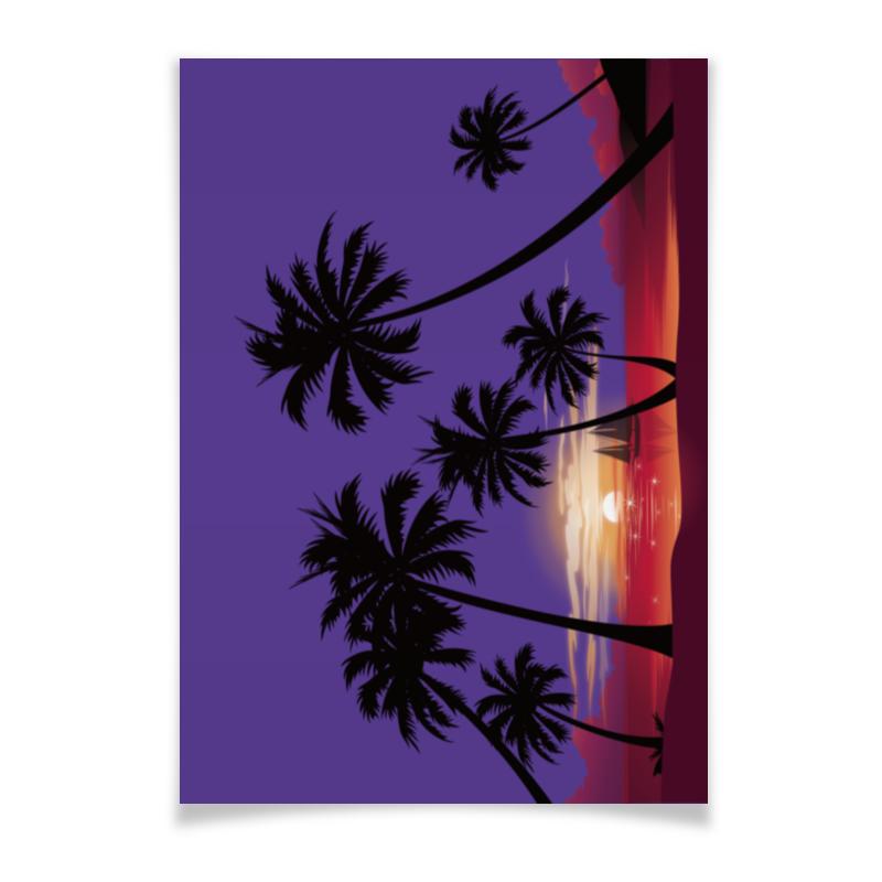 Плакат A3(29.7x42) Printio Острова в океане чехол для ноутбука 12 printio острова в океане