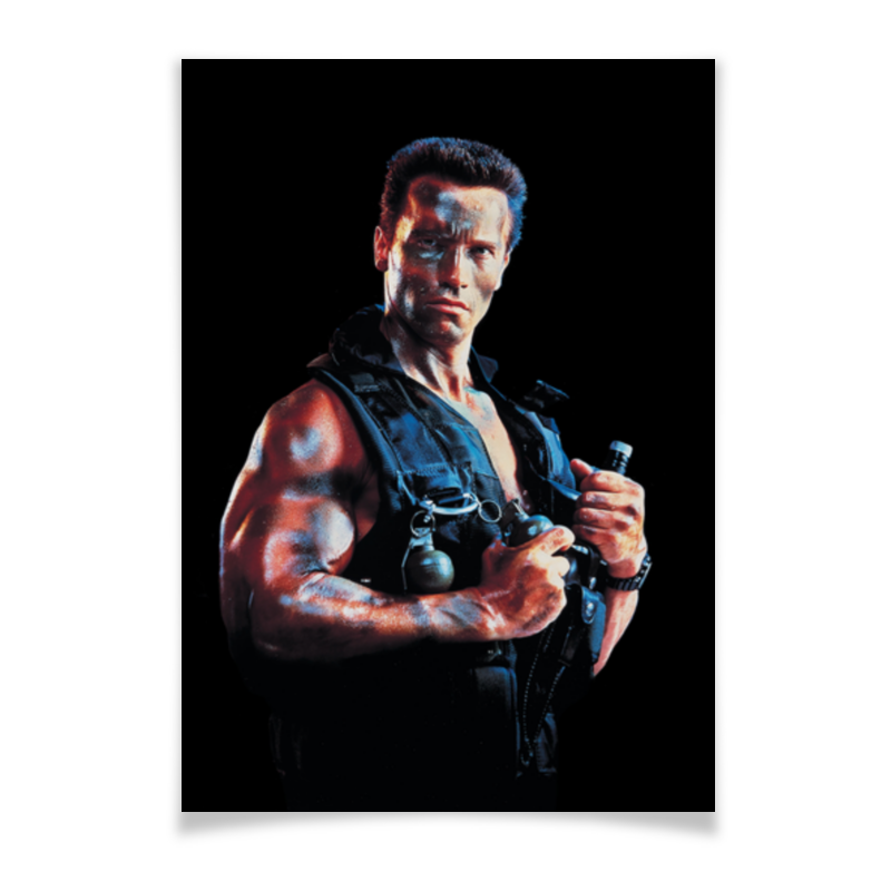 Плакат A3(29.7x42) Printio Commando commando outdoor climbing half finger gloves tactical combat tactical black hawk riding fitness boxing gloves