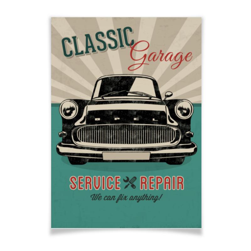 Плакат A3(29.7x42) Printio Ретро автомобиль opel