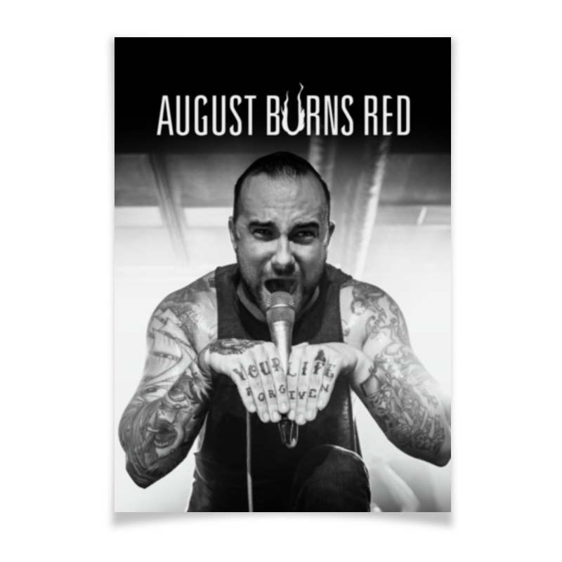 Плакат A3(29.7x42) Printio August burns red august burns red schweinfurt