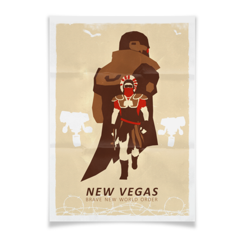 Плакат A3(29.7x42) Printio Fallout new vegas: brave new world order