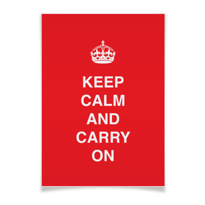 Плакат A3(29.7x42) Printio Keep calm and carry on плакат a3 29 7x42 printio rin and len
