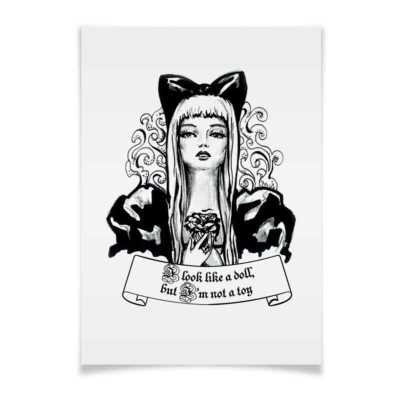 Плакат A3(29.7x42) Printio Фэшн иллюстрация кукла плакат a3 29 7x42 printio яркий красивый модный гелакси дизайн паттерн