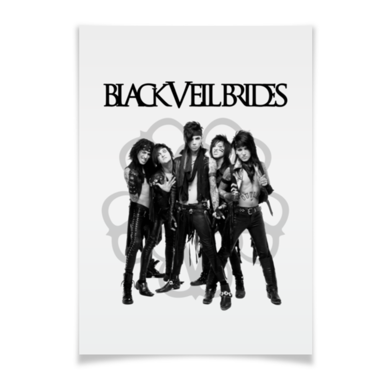 Плакат A3(29.7x42) Printio Black veil brides a3 fingerprint attendance machine black