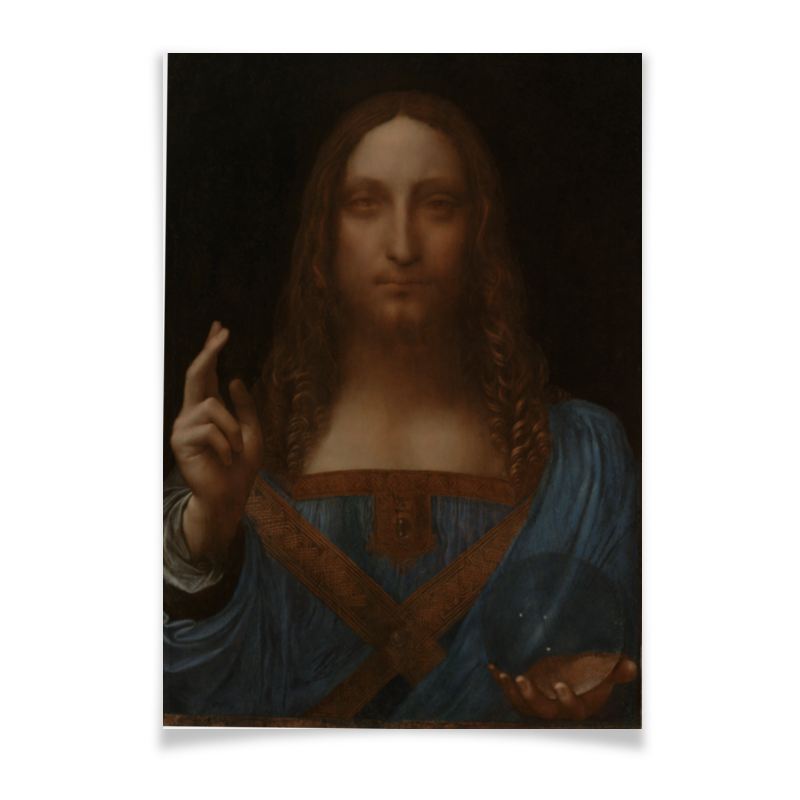Плакат A3(29.7x42) Printio Спаситель мира леонардо да винчи плакат a3 29 7x42 printio карта мира