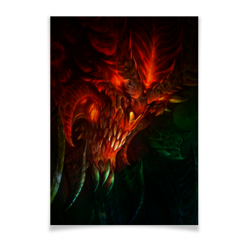 Плакат A3(29.7x42) Printio Diablo iii видеоигра для xbox one diablo iii reaper of souls