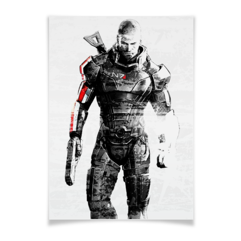 Плакат A3(29.7x42) Printio Mass effect худи print bar mass effect