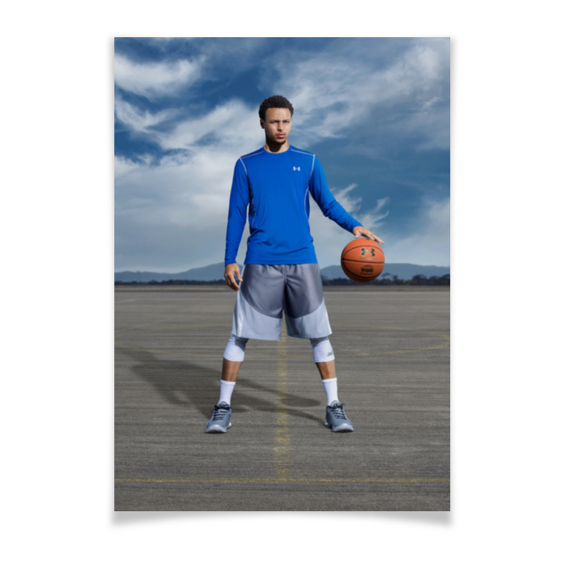 Плакат A3(29.7x42) Printio Stephen curry 10cm pvc nba warriors stephen curry action figure toy