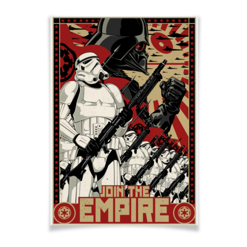 Плакат A3(29.7x42) Printio Звёздные войны чехол для ноутбука 14 printio изгой один звёздные войны