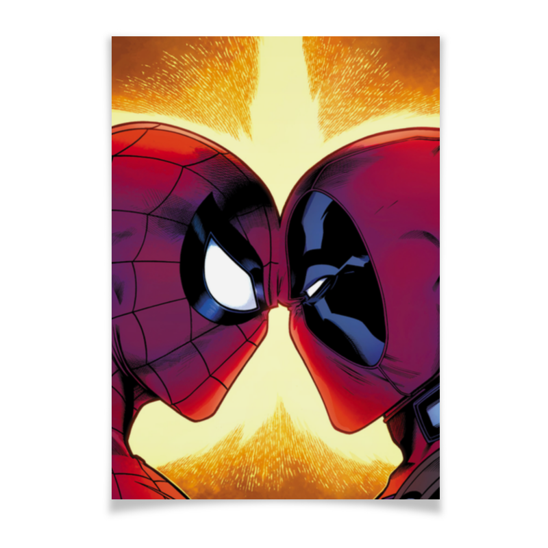 Плакат A3(29.7x42) Printio Deadpool vs spider-man simba 6 12