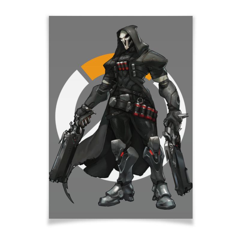 Плакат A3(29.7x42) Printio Overwatch reaper / жнец овервотч