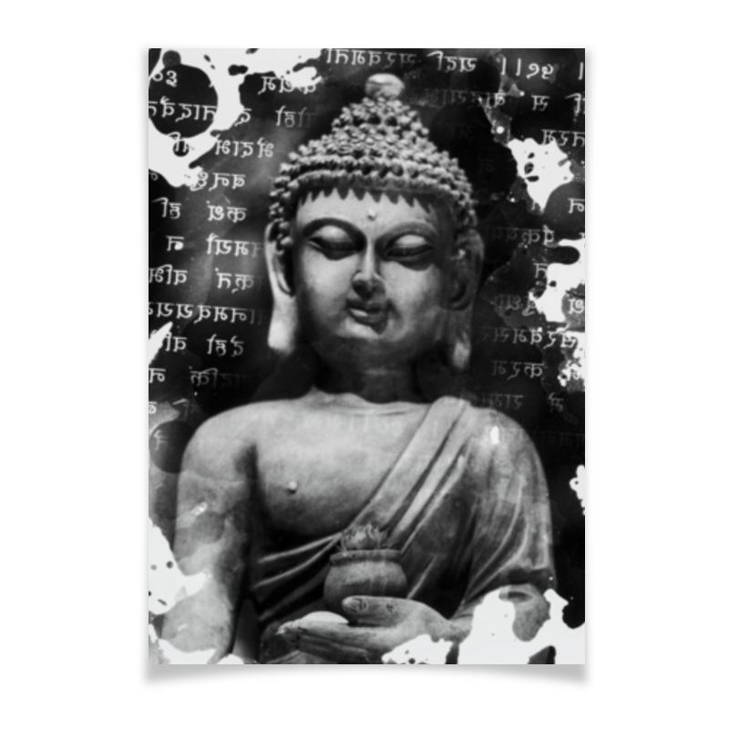 Плакат A3(29.7x42) Printio Будда (письмена) коробка для футболок printio будда письмена