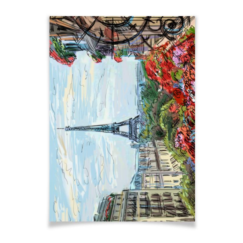 Плакат A3(29.7x42) Printio Эйфелева башня плакат a3 29 7x42 printio рисунок дедпула