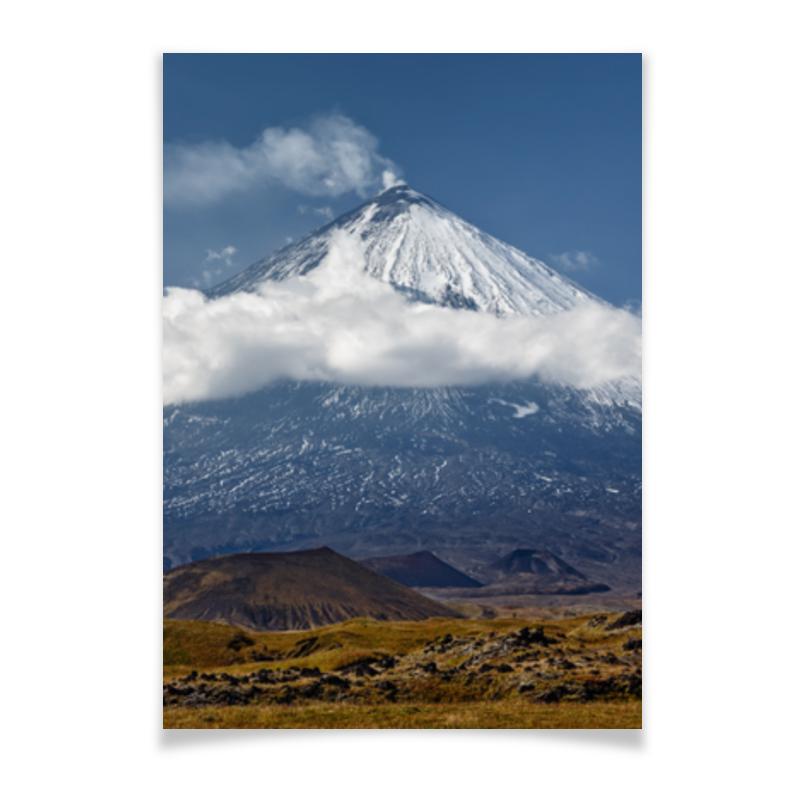Плакат A3(29.7x42) Printio Камчатка, осенний пейзаж, извержение вулкана