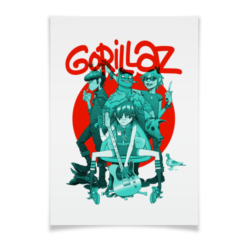 Плакат A3(29.7x42) Printio Gorillaz плакат a3 29 7x42 printio рок инструменты