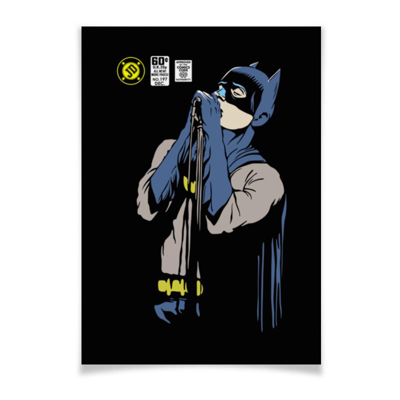 Плакат A3(29.7x42) Printio Бэтмен иэн кёртис