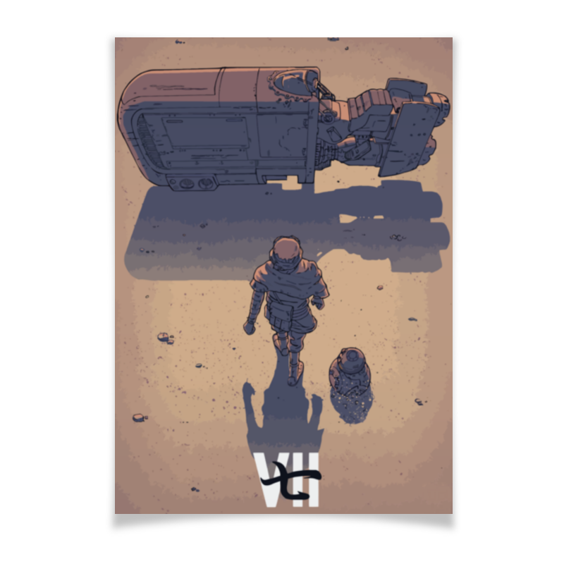 Плакат A3(29.7x42) Printio Star wars / akira ray's speeder/ спидер рэй