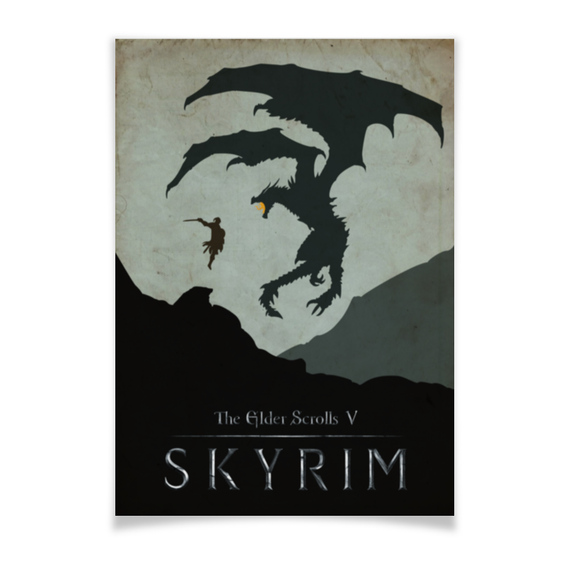 Плакат A3(29.7x42) Printio Skyrim плакат a3 29 7x42 printio stay chill