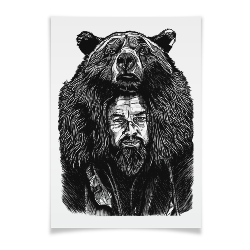 Плакат A3(29.7x42) Printio The revenant / выживший