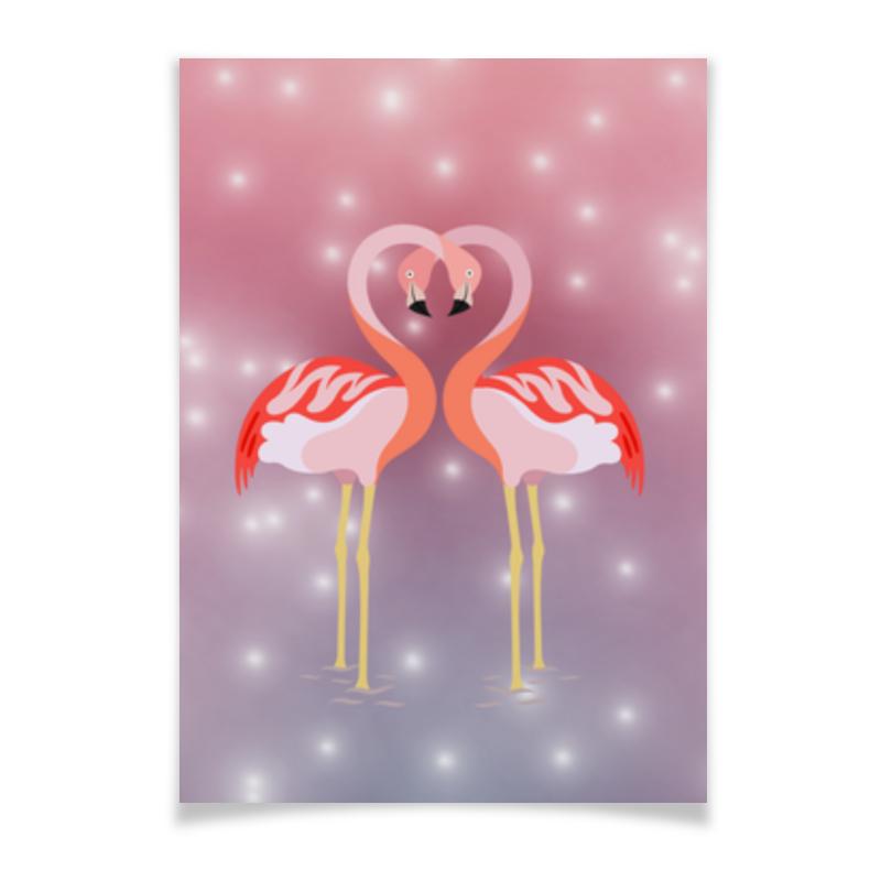 Плакат A3(29.7x42) Printio Влюбленные фламинго плакат a3 29 7x42 printio влюбленные фламинго