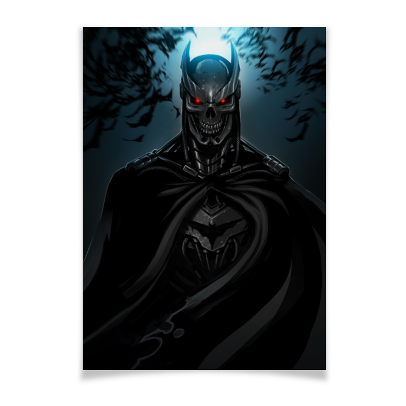 Плакат A3(29.7x42) Printio Бэтмен автозапчасть a3