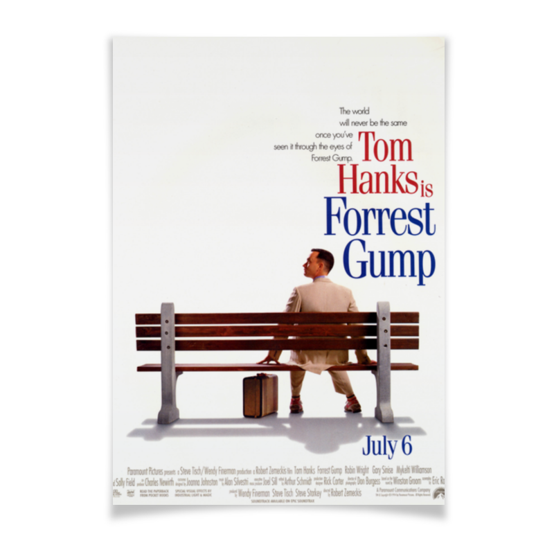 Плакат A3(29.7x42) Printio Форрест гамп / forrest gump футболка wearcraft premium slim fit printio форрест гамп forrest gump