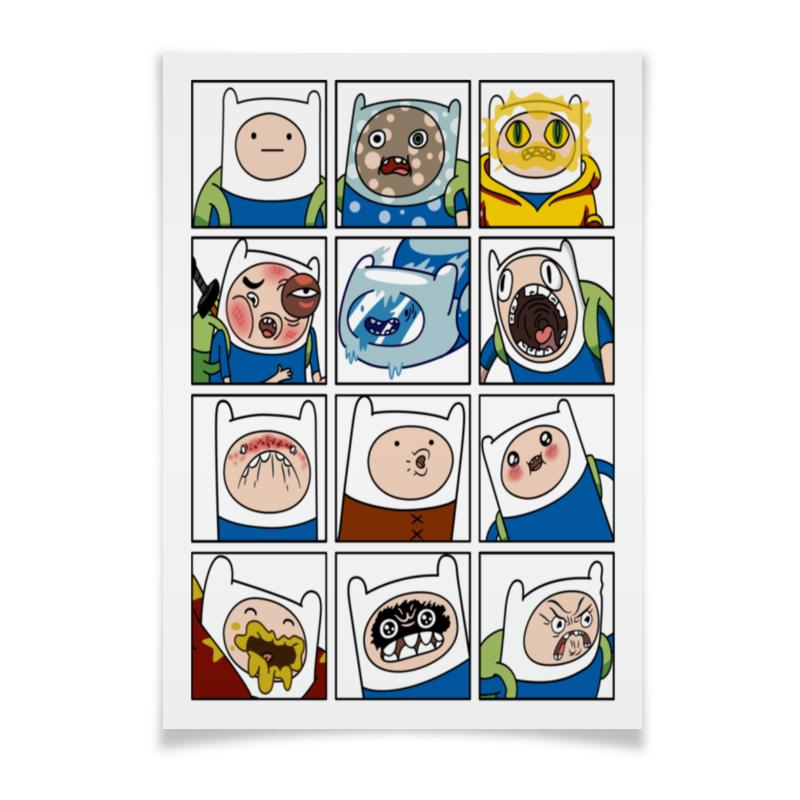Плакат A3(29.7x42) Printio Финн. время приключений