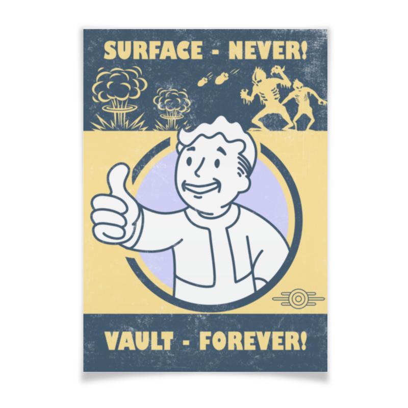 цены Плакат A3(29.7x42) Printio Fallout. vault - forever!