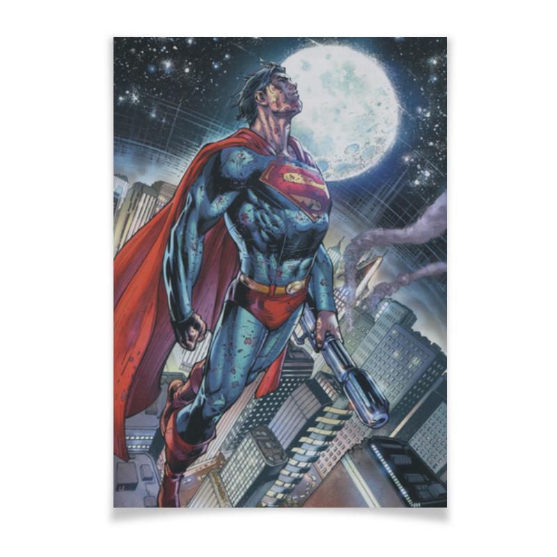 Плакат A3(29.7x42) Printio Супермен (superman) плакат a3 29 7x42 printio stay chill