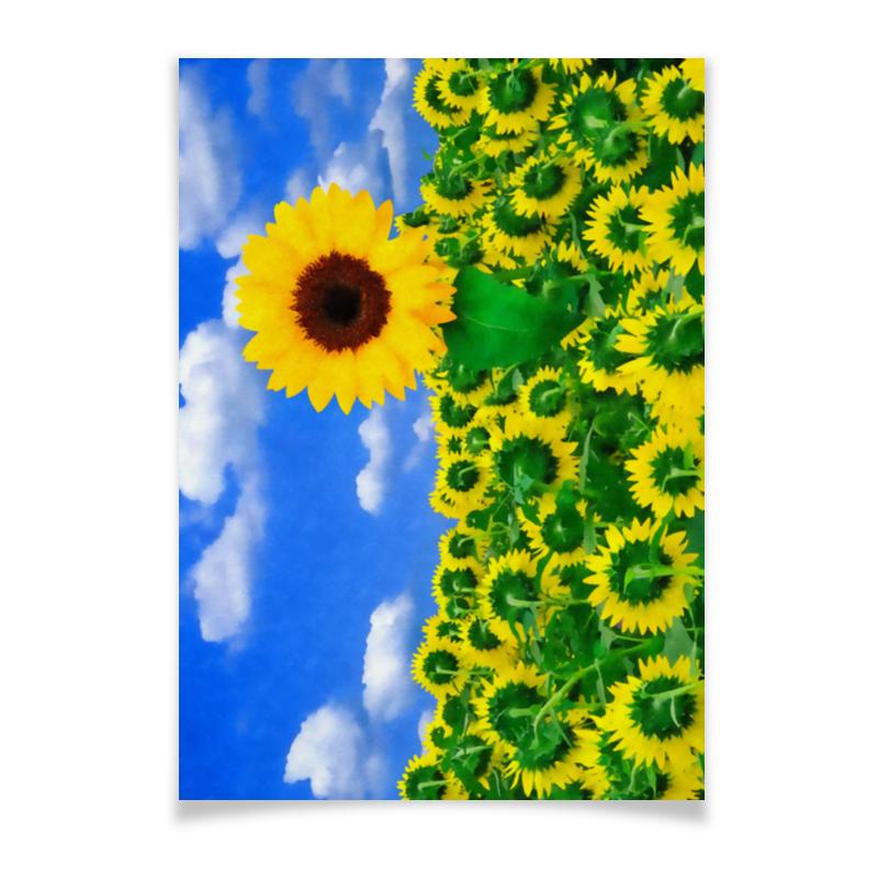 Плакат A3(29.7x42) Printio Подсолнух puzzle 1000 поле подсолнухов кб1000 6897