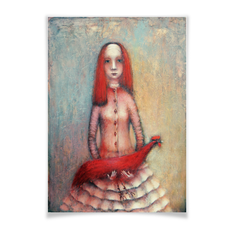 Плакат A3(29.7x42) Printio Красный петух паста melissa primo gusto кус кус 500 г