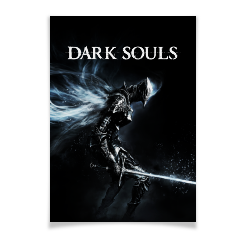 Плакат A3(29.7x42) Printio Dark souls riggs r library of souls