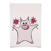 """Плакат A3(29.7x42) """"Розовый поросёнок с бенгальскими огнями"""" - арт, счастье, свин, розовый поросенок, бенгальский огонь"""
