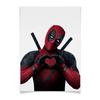 "Плакат A3(29.7x42) ""Love Deadpool"" - сердце, комиксы, marvel, марвел, дэдпул"