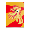 "Плакат A3(29.7x42) ""Sunset Shimmer Color Line"" - sun, cutiemark, sunset shimmer"