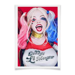 """Плакат A3(29.7x42) """"Харли"""" - comics, dc, харли, harley quinn, отряд самоубийц"""