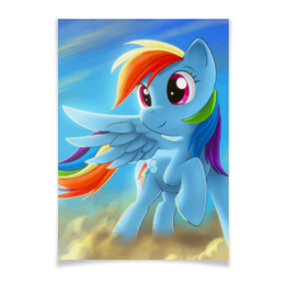 "Плакат A3(29.7x42) ""Радуга Дэш"" - rainbow dash, my little pony, friendship is magic, радуга дэш"